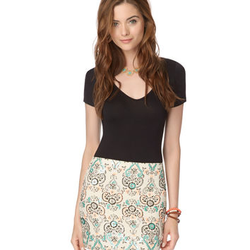 Paisley Highlight Skirt