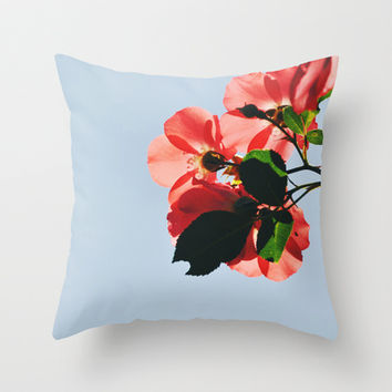 Rose Throw Pillow by goguen | Society6