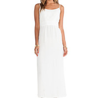 Sail Open Back Maxi Dress in White