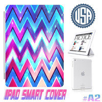 Graphic Design Galaxy Chevron Pattern @ IPad Air Smart Cover , IPad Mini Retina Smart Cover  IPad 4/3/2 Case Magnetic Sleep Wake Case  #A2