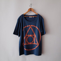 Blue Quintessence Crew Neck Tshirt Cotton Modal by knifeinthewater