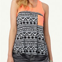 Neon Aztec Pocket Tank