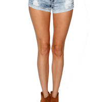 Papaya Clothing Online :: DESTROYED ROLL-UP SHORTS