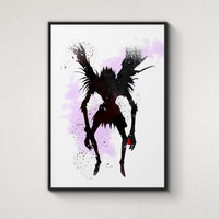 Ryuk, Death Note, Shinigami, Alternative Poster, Watercolor Painting, Archival Fine Art, Home Wall Decor, Giclee Print,