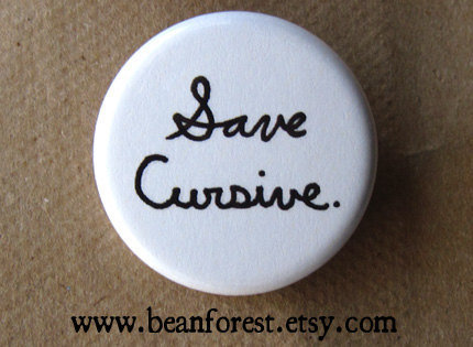 save cursive NEWEST by beanforest on Etsy
