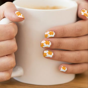 Flowering In Orange - Nail Art