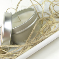 Vanilla Champagne Soy Candle, Scented Soy Candle Tin -- 6 ounce Tin