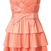 Salmon Ruffle Scallop Bandeau Dress By Dress Up Topshop** - Going Out Dresses - Dresses - Clothing - Topshop