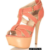Hysteria Coral Platform Heel - View All  - Shoes  - Miss Selfridge US