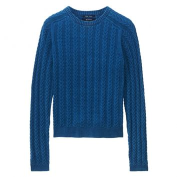Petit Indigo Cable Sweater
