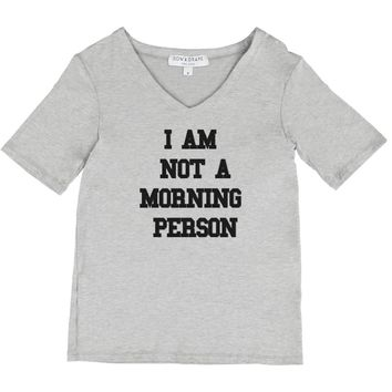 not a morning person, morning, person, cheeky, quote, custom, tee, cozy, loungewear, weekend, gray, grey, morning, coffee