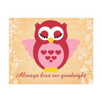 Nursery Quote with Sleepy Angel Owl