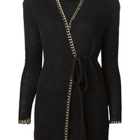 Jean Paul Gaultier Vintage Metal Chain Trim Cardigan