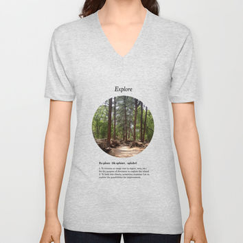 Explore V-neck T-shirt by Halfmoon Industries