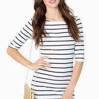 Boatneck Stripe Bodycon