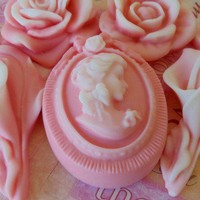 Pink Cameo Soap Set  Gift Boxed by BUBBLECITYSOAP on Etsy