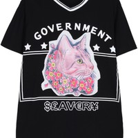 Government Cat-Print Tee - OASAP.com
