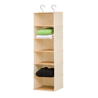 6-Shelf Bamboo Hanging Organizer