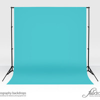 "Photography Vinyl Backdrop Photo Backdrop Comes In ""Blue Curacao"" Perfect For Infant, Baby, Kids, Photography Shoots Background (FD1814)"