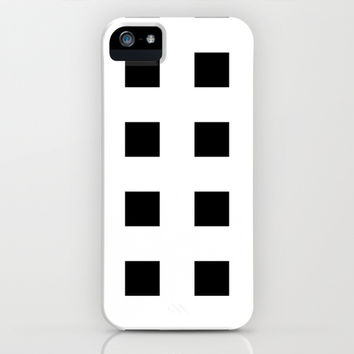 Cross Squares Black & White iPhone & iPod Case by BeautifulHomes | Society6