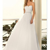 Buy discount Elegant Chiffon A-line Sweetheart Wedding Dress For Your Beach Wedding at dressilyme.com