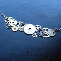 Clockwork Necklace EightyEight  Abstract by amechanicalmind