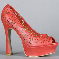 *Sole Boutique The Red Carpet IV Shoe in Coral : Karmaloop.com - Global Concrete Culture