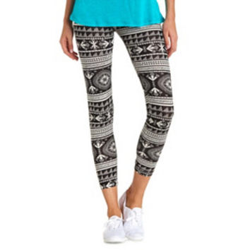 COTTON SOUTHWEST PRINTED LEGGINGS