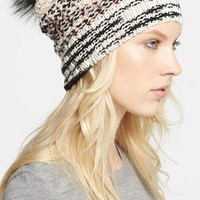 Missoni Chunky Knit Hat with Genuine Fox Fur Pompom