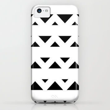 Tribal Triangles Black & White iPhone & iPod Case by BeautifulHomes | Society6