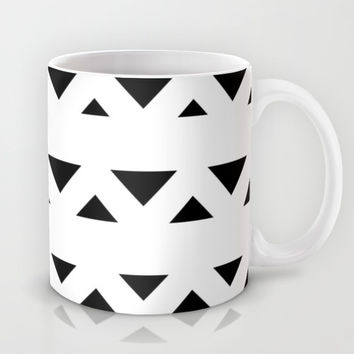 Tribal Triangles Black & White Mug by BeautifulHomes | Society6