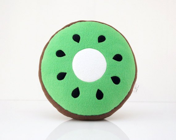 $49.00 Kiwi Pillow by WinterPetals on Etsy