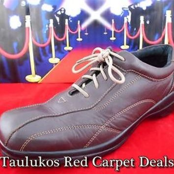 Mens shoes HUNTERS BAY Leather Lace-Up Oxford Collection Casual Bike toe sz 12 M