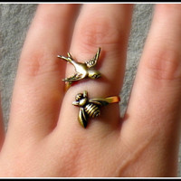 $18.00 birds and the bees ring by alapopjewelry