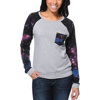 Lira Galactic Heather Grey Crew Neck Sweatshirt
