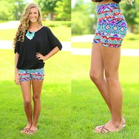 Aztec Adventure Patterned Shorts