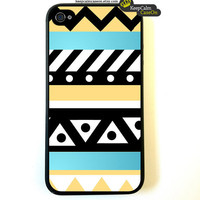 iPhone 4 Case Pastel Tribal Aztec iPhone 4S Case by KeepCalmCaseOn