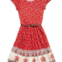Paisley Fit & Flare Dress (Kids)