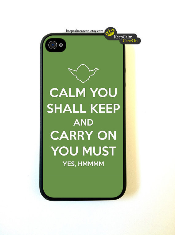 Iphone 4 Case Calm You Shall Keep Yoda iphone 4 by KeepCalmCaseOn
