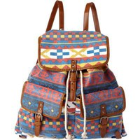 blue aztec rucksack - rucksacks - bags / wallets - men - River Island