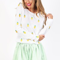 Tropicana Knit - Pineapple Sweater
