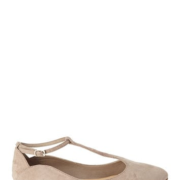 Pointed T-Strap Flats