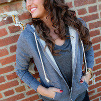 Taking It Easy - {Grey Zip-Up}