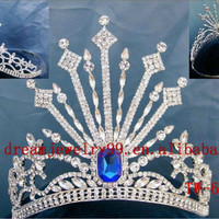 Source unique big blue pageant crown on m.alibaba.com