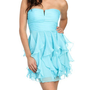 Chiffon Ruffle Tube Dress | Shop Dresses at Arden B