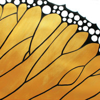 Monarch butterfly painting with Swarovski crystals