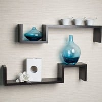 """S"" Wall Mount Shelf (Set of 2)"