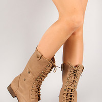 Smart-1 Military Lace Up Mid Calf Boot