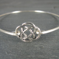 Silver Celtic Knot Bangle Bracelet - Ireland Jewelry - Irish Jewelry - Celtic Jewelry - Silver Bracelet - Silver Jewelry