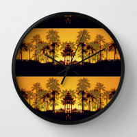 Six Sunsets Wall Clock by RichCaspian | Society6